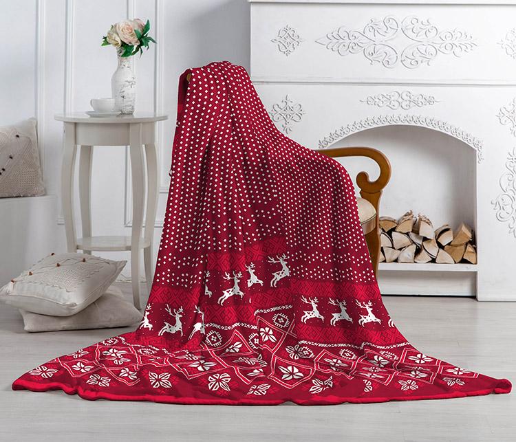 Плед-покрывало Павлина Аэро Софт Суоми красный 150х200 (Павлина Аэро Софт)